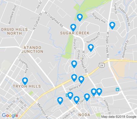 map of Sugaw Creek apartments for rent