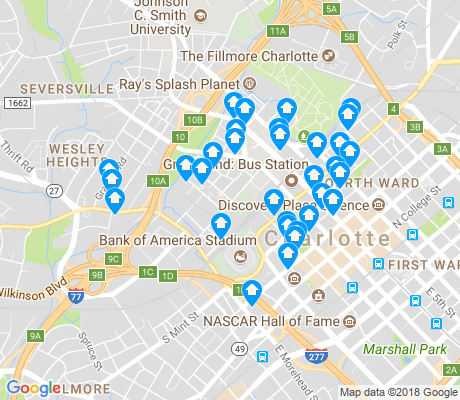map of Third Ward apartments for rent