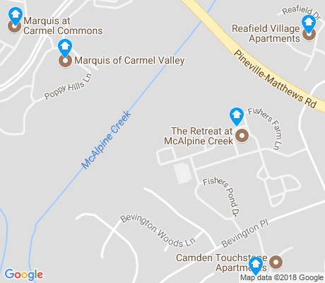 map of Touchstone Village apartments for rent