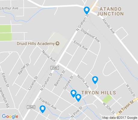 map of Tryon Hills apartments for rent
