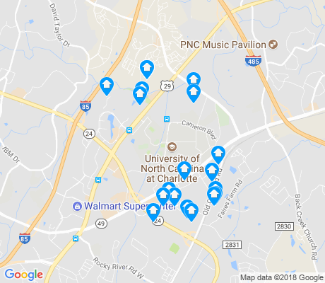 map of University City South apartments for rent