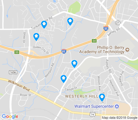 map of Westerly Hills apartments for rent