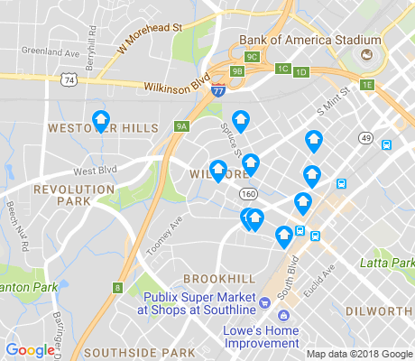 map of Wilmore apartments for rent