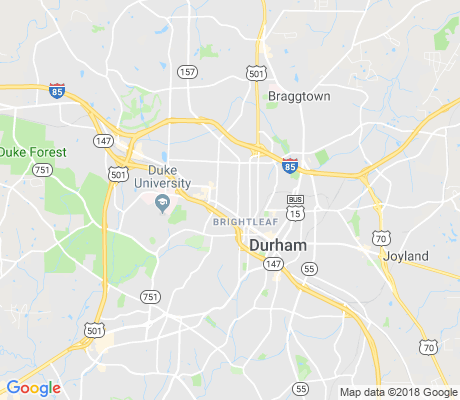 map of Duke University - East Campus apartments for rent