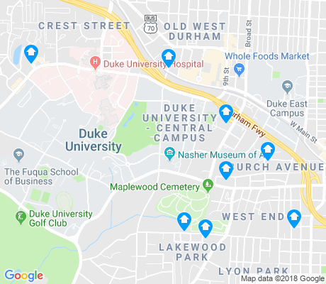 map of Duke University - West Campus apartments for rent
