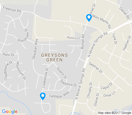 map of Greysons Green apartments for rent