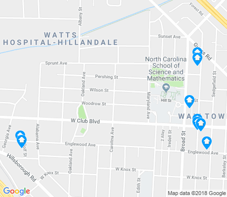 map of Watts Hospital-Hillandale apartments for rent