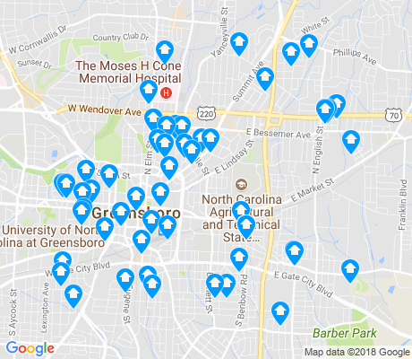 map of 27401 apartments for rent