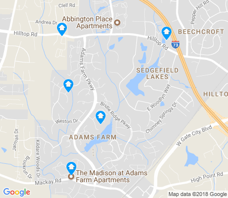 map of Adams Farm apartments for rent