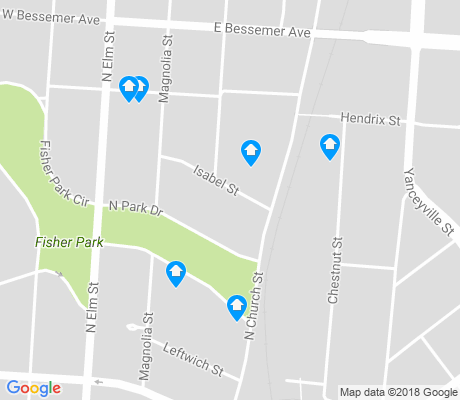 map of Fisher Park apartments for rent