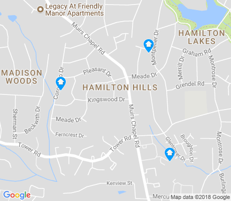 map of Hamilton Hills apartments for rent