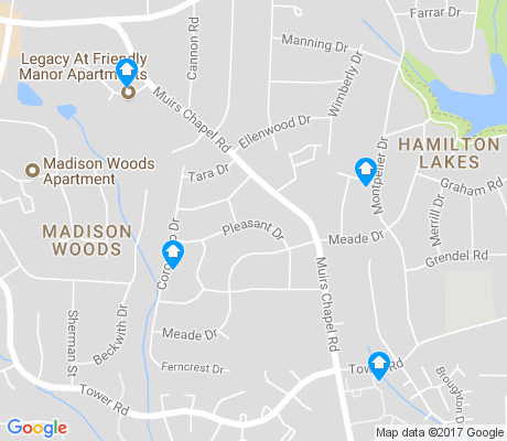 map of Hamilton Lakes apartments for rent