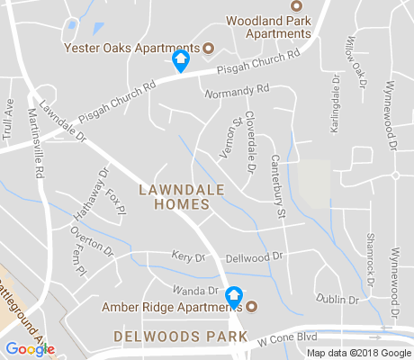map of Lawndale Homes apartments for rent