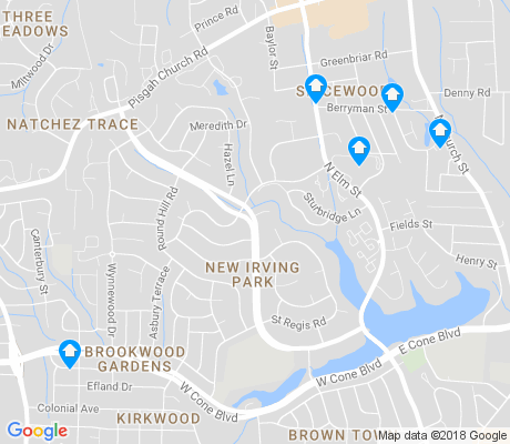 map of New Irving Park apartments for rent