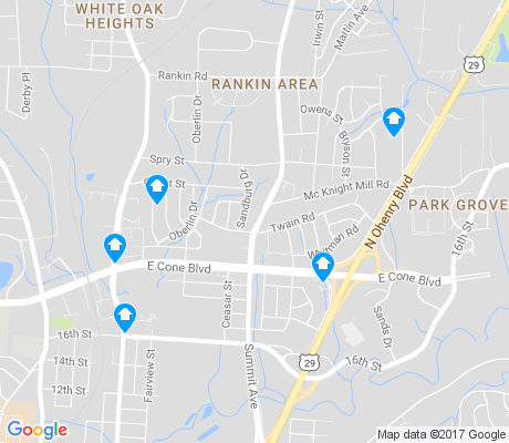 map of O Henry Oaks apartments for rent