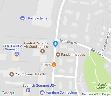 map of Random Woods apartments for rent