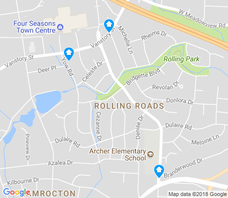 map of Rolling Roads apartments for rent