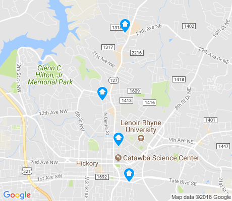 map of Hickory apartments for rent