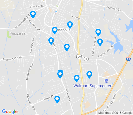 map of Kannapolis apartments for rent