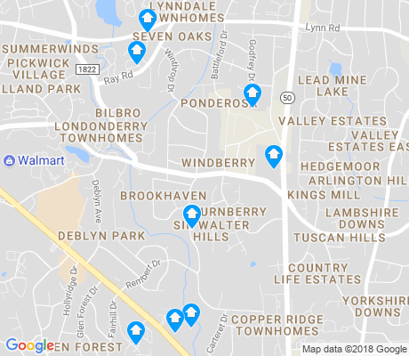 map of Brookhaven apartments for rent