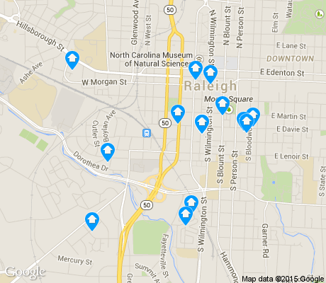 map of Central apartments for rent