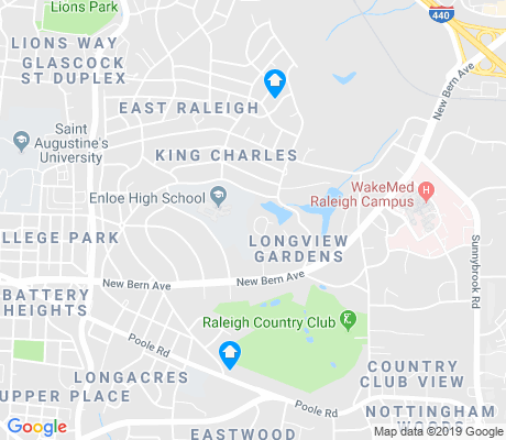 map of King Charles apartments for rent