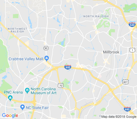 map of North Hills apartments for rent
