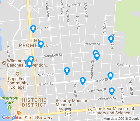 map of Carolina Heights apartments for rent