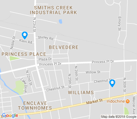 map of Creekwood apartments for rent