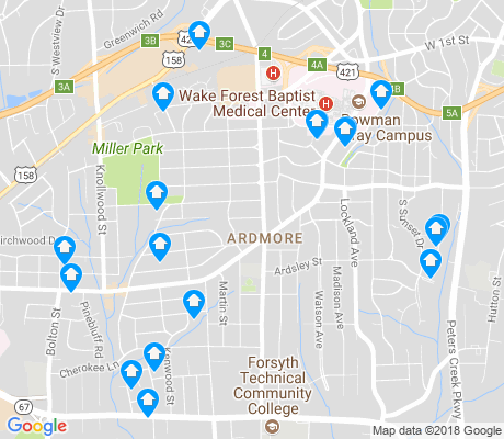 map of Ardmore apartments for rent
