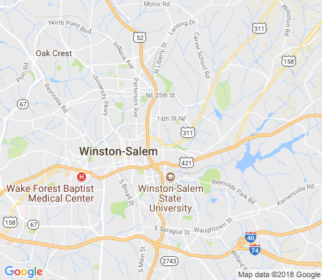 map of East Winston apartments for rent