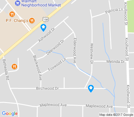 map of Knollwood Manor apartments for rent