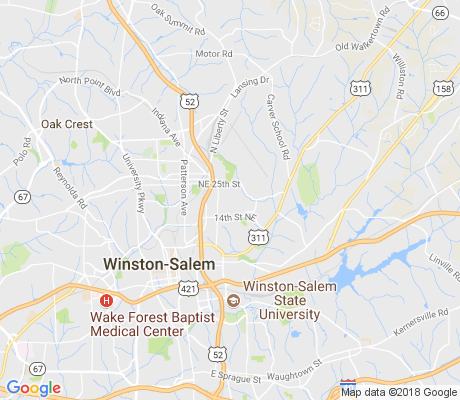 map of North East Winston apartments for rent