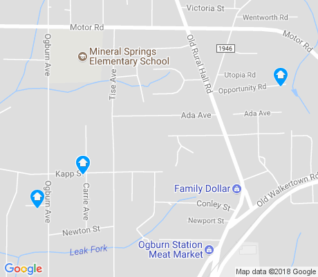 map of Ogburn Station apartments for rent