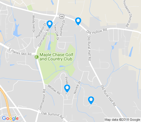 map of Pinebrook Country Club apartments for rent