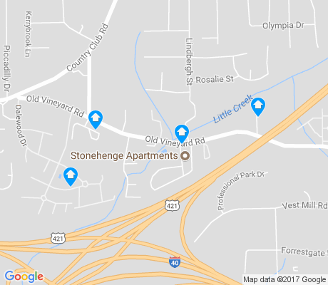 map of The Village apartments for rent