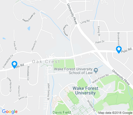 map of Wake Forest University apartments for rent