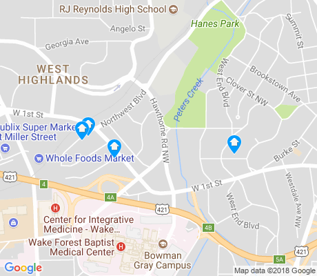 map of West Highlands apartments for rent