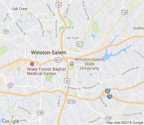 map of Winston-Salem State University apartments for rent