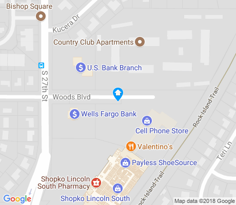 map of Country Club apartments for rent