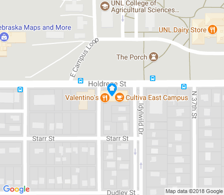 map of East Campus apartments for rent