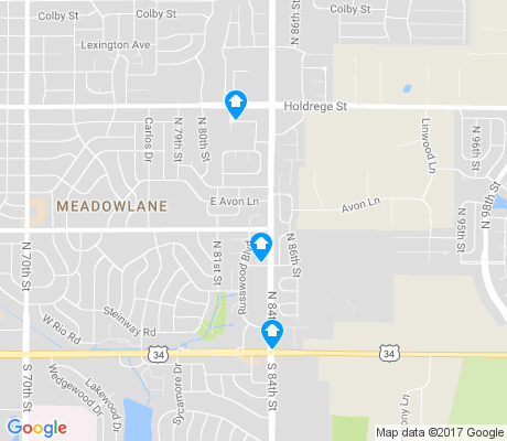 map of Meadowlane apartments for rent