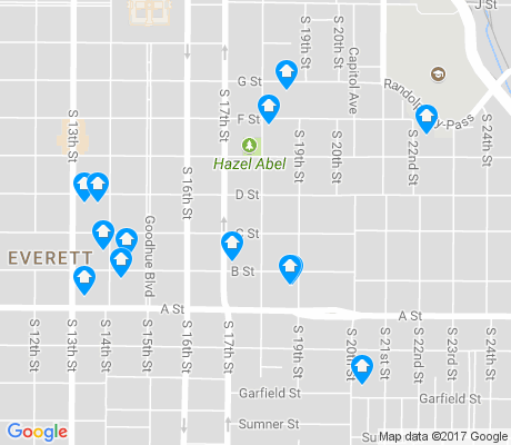map of Near South apartments for rent