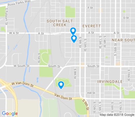 map of South Salt Creek apartments for rent