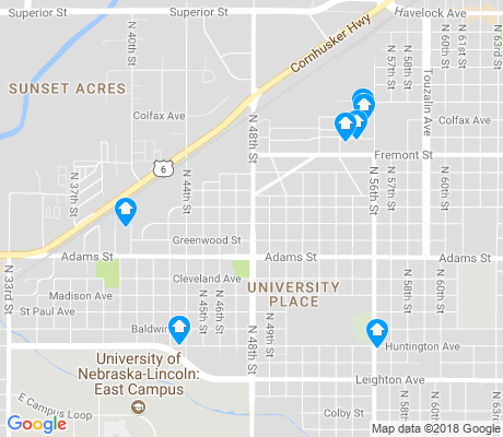 map of University Place apartments for rent