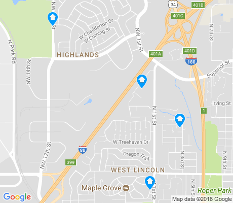 map of West Lincoln apartments for rent