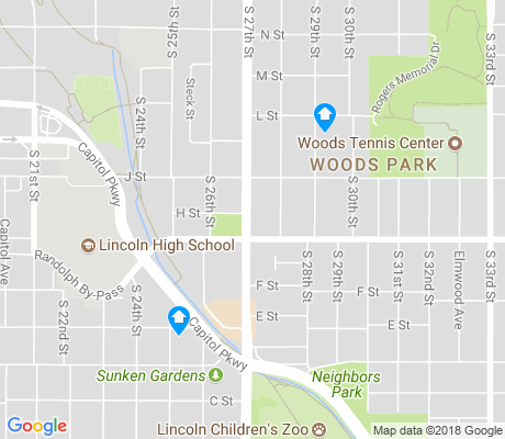 map of Woods Park apartments for rent