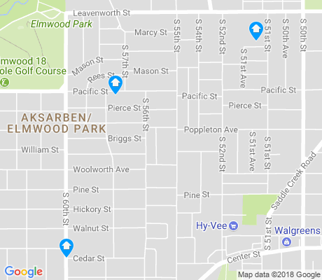 map of Aksarben - Elmwood Park apartments for rent