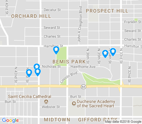 map of Bemis Park apartments for rent