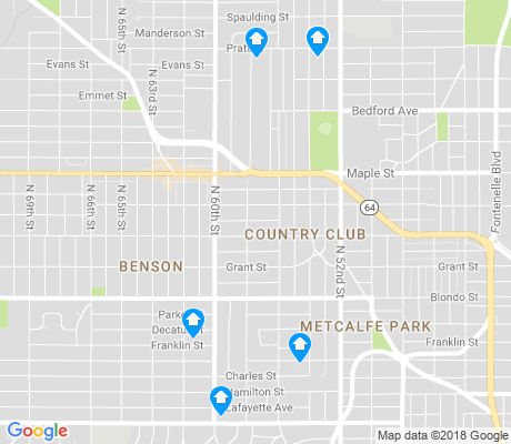 map of Benson apartments for rent